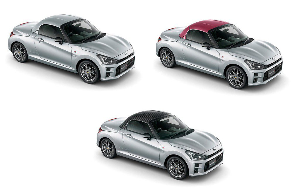 Copen GR Sport還可更換銀色、酒紅、黑色3種車頂。 摘自Daihat...