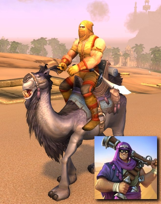 魔獸世界中的荒漠遊蕩者(廢土強盜)、爐石副本中的荒漠遊蕩者卡迪許