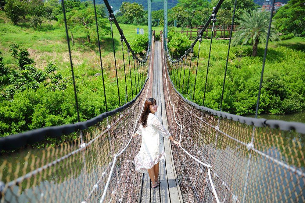 公園內處處都很好取景,走在小徑或吊橋上,隨手一拍也能拍出好作品。 (攝影/Cat...