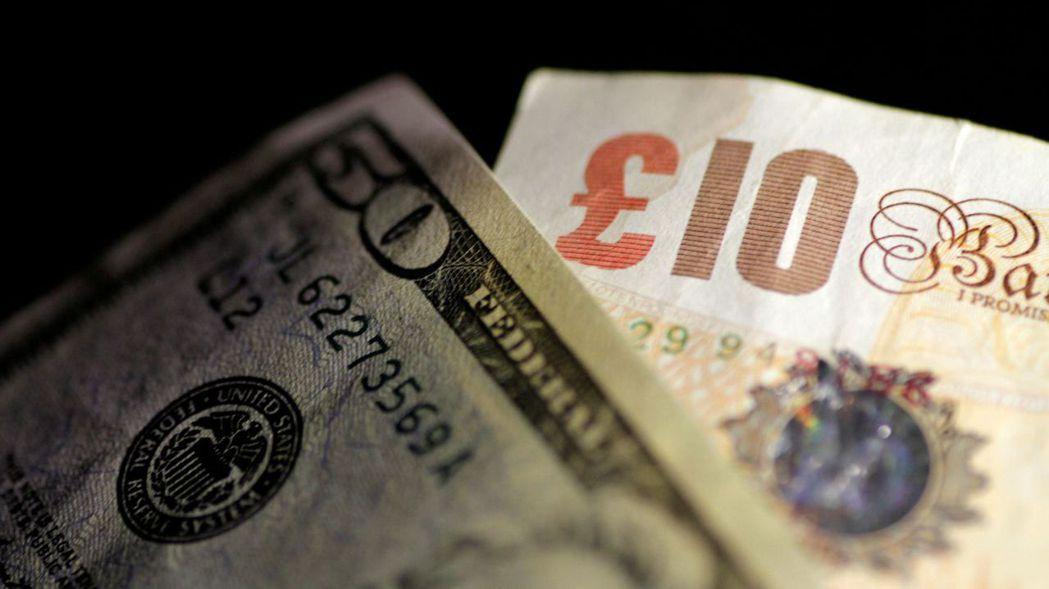 英鎊兌美元在紐約匯市貶0.7%,今早又回升0.2%。 (路透)