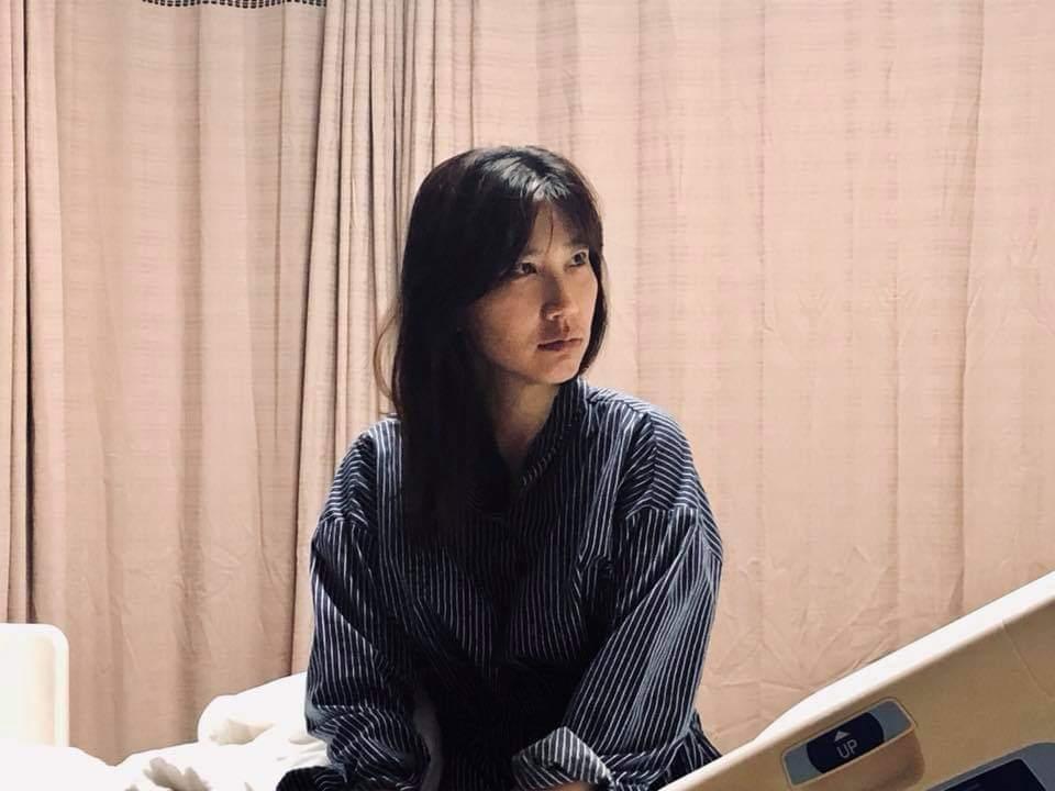 東森主播黃文華發現肺部腫瘤。圖/摘自臉書
