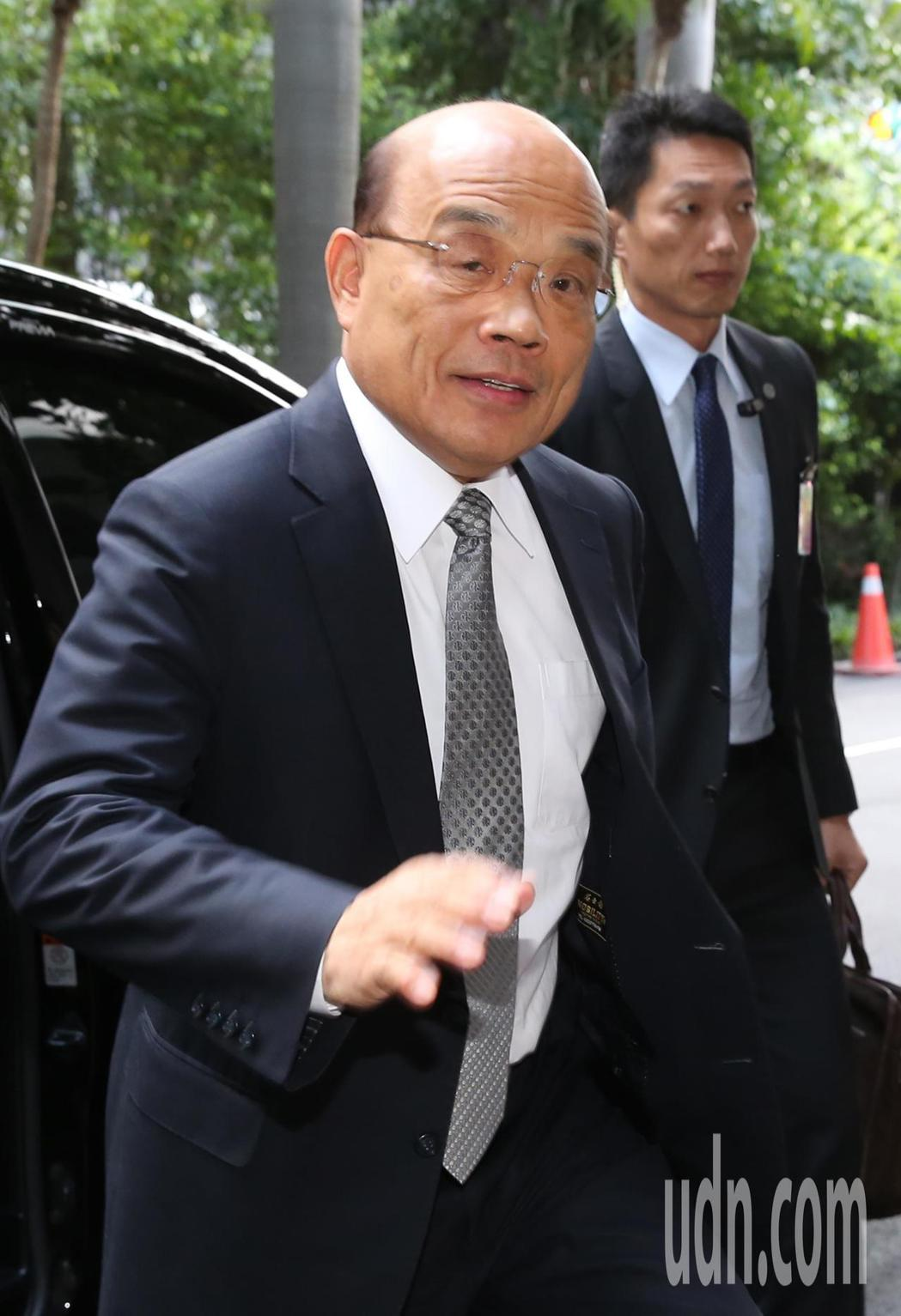 針對外送員意外頻傳,行政院長蘇貞昌上午到立法院備詢,表示勞委會應對勞動條件進行勞...