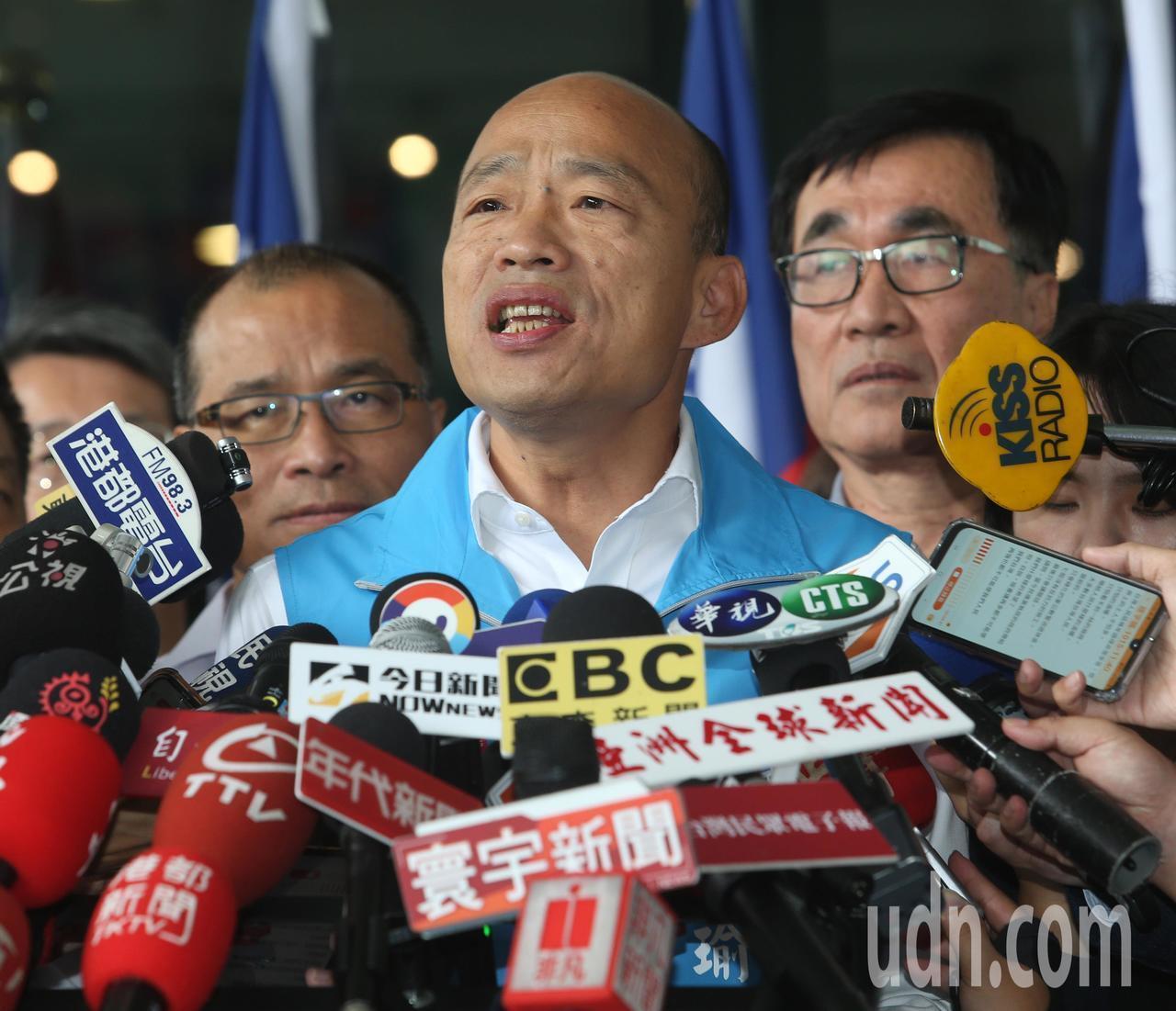 高雄市長韓國瑜宣布請假投入2020大選。記者劉學聖/攝影