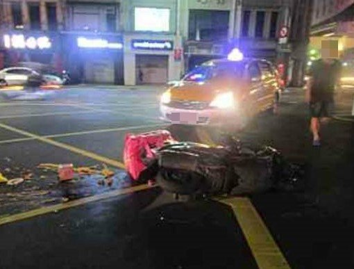 基隆統計4月到9月也發生20多件美食外送員車禍意外,都有受傷。記者游明煌/翻攝