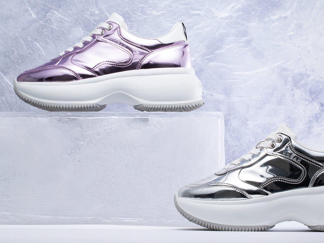 金屬材質的Maxi Active鞋款。圖/迪生提供