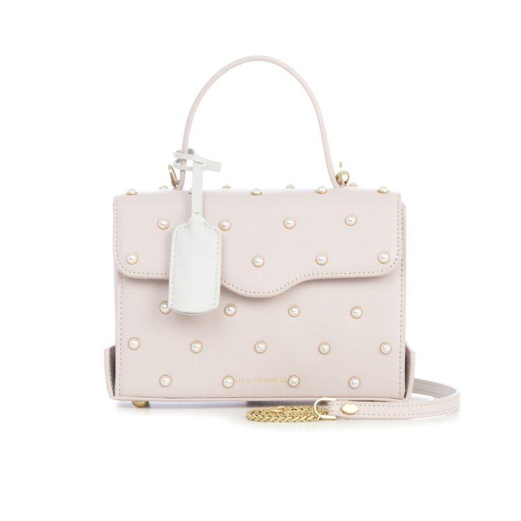 女王公事包(珍珠),18,800元。圖/LULU GUINNESS提供