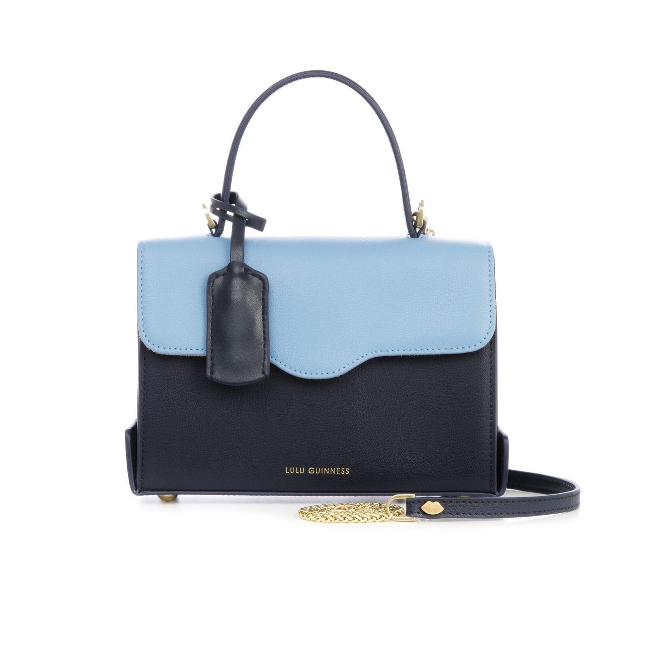 女王公事包(藍),17,800元。圖/LULU GUINNESS提供