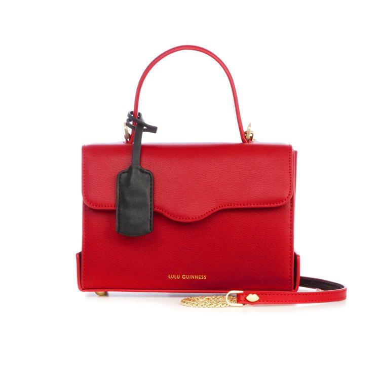 女王公事包(紅),17,800元。圖/LULU GUINNESS提供