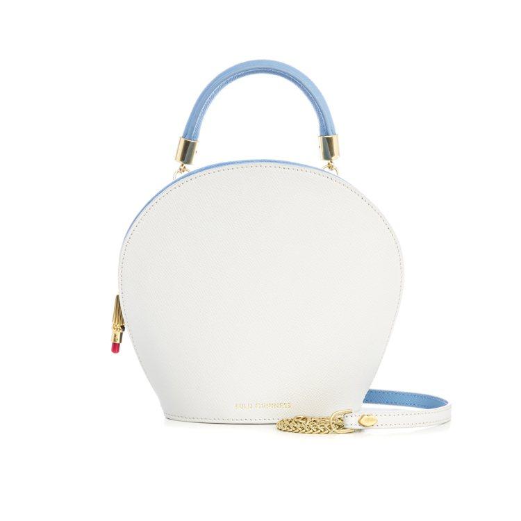 Mini貝殼包(白),15,800元。圖/LULU GUINNESS提供
