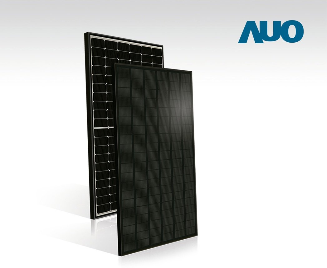 友達SunBravo多柵線半切電池模組具備350瓦高發電功率。 圖/友達提供