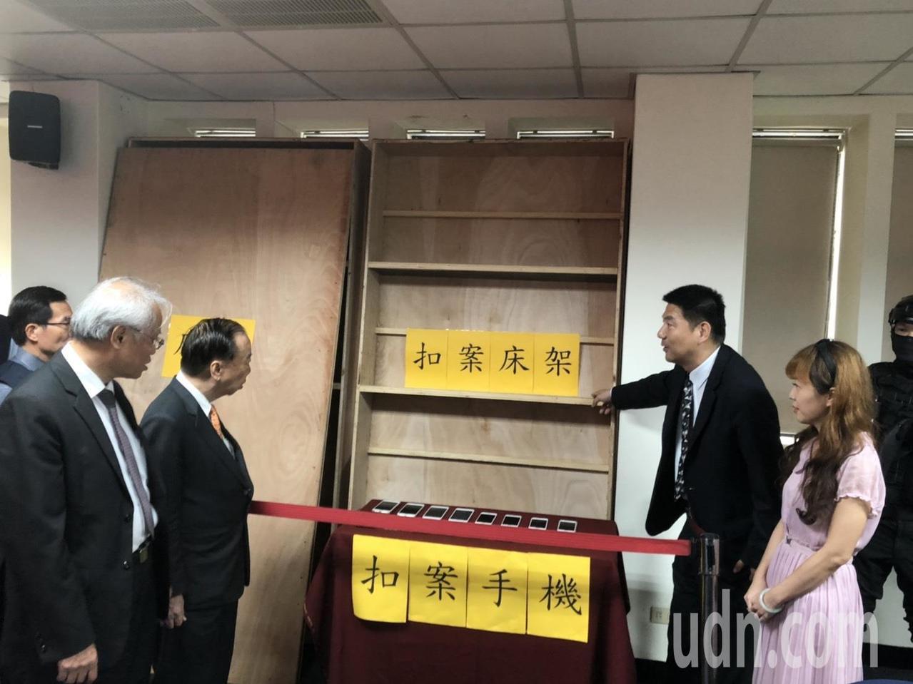 嫌犯在台灣訂製特殊尺寸的床板,用來運送毒品。記者蔡家蓁/攝影