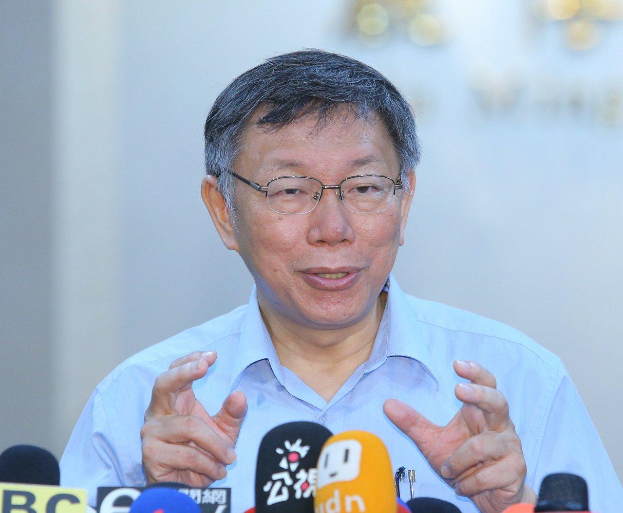 針對新北市議員張錦豪嗆要拿回「民生汐止線」主導權,台北市長柯文哲15日受訪時表示...