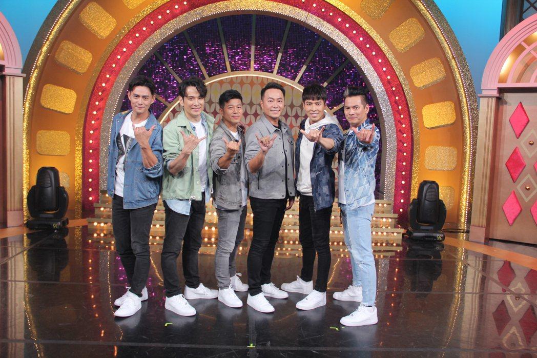「紅孩兒」韓志杰(左二起)張洛君、湯俊霈、張克帆、王海輪、馬國賢。圖/年代提供