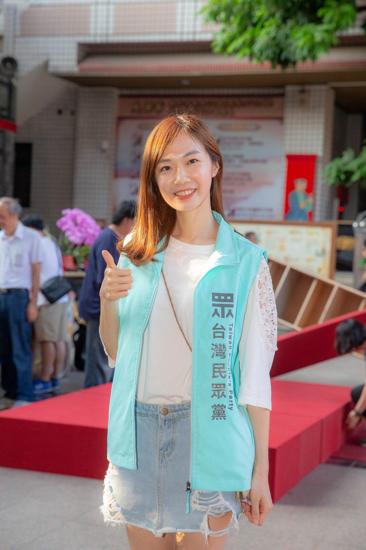 民眾黨中部發言人楊寶楨外形甜美,頗受矚目。圖/台灣民眾黨提供