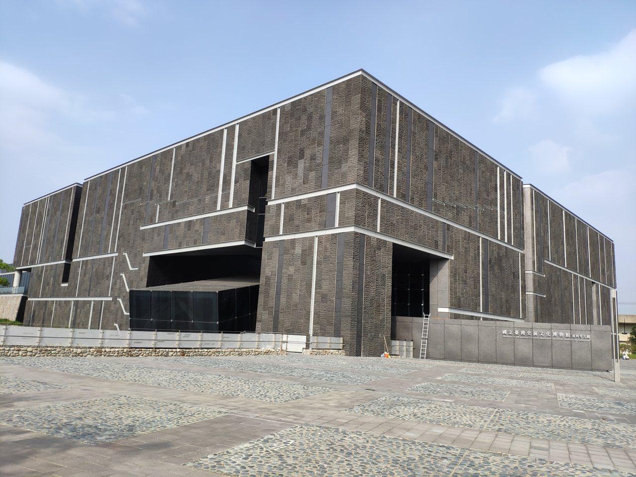 國立台灣史前博物館南科考古館磅礡氣派建物外觀。記者謝進盛/攝影
