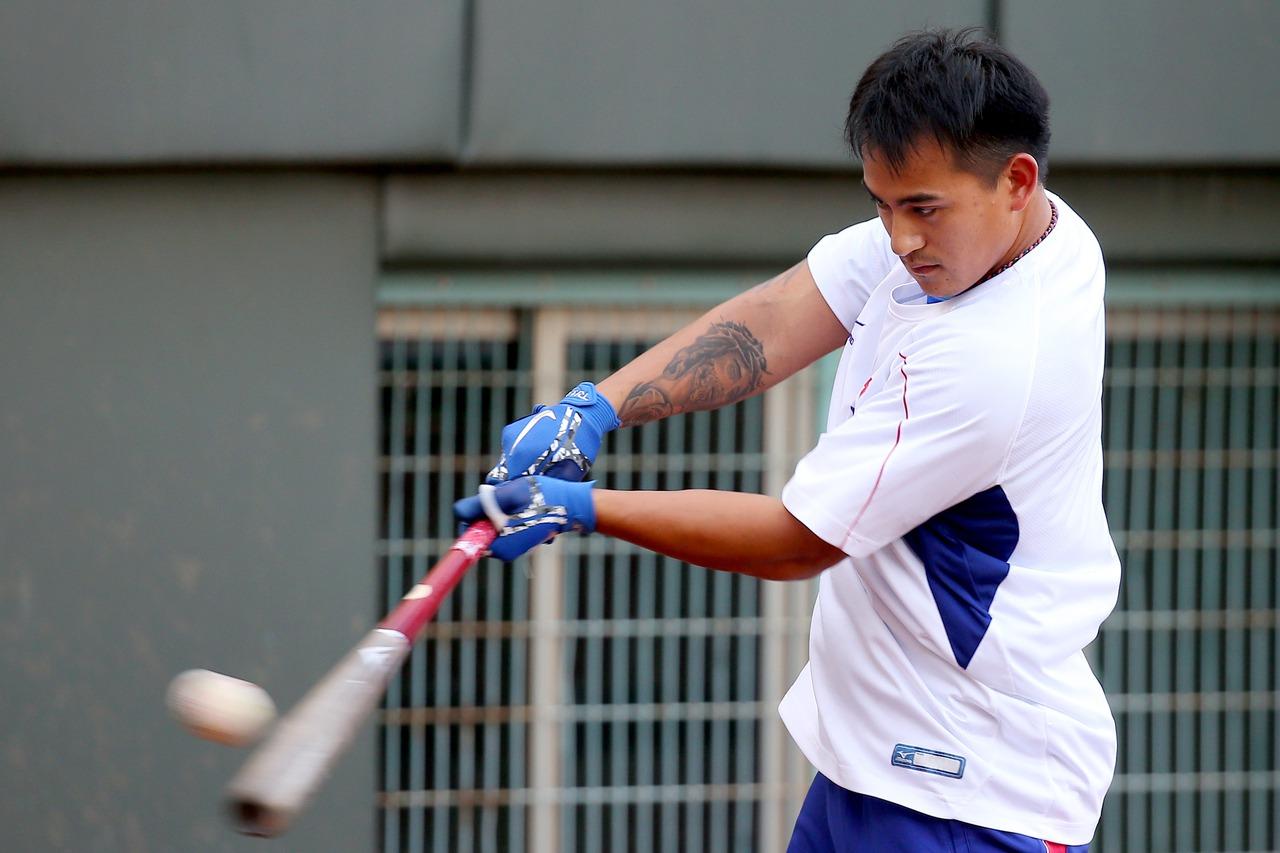 亞洲棒球錦標賽中日大戰,紅襪隊野手林子偉擔任第三棒。記者余承翰/攝影