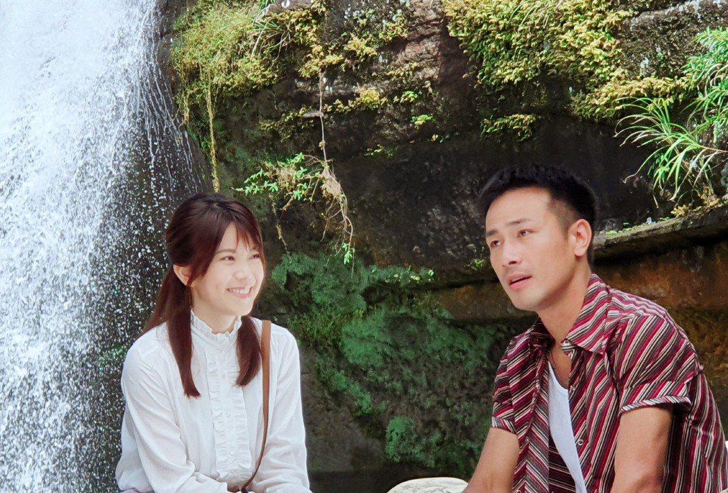 傅子純(右)、廖苡喬在「多情城市」中的「龍萍戀」吸睛。圖/民視提供
