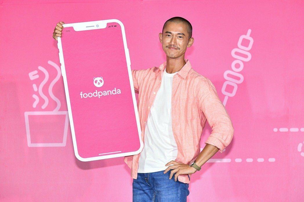 吳慷仁擔任外送平台年度代言人。圖/foodpanda提供