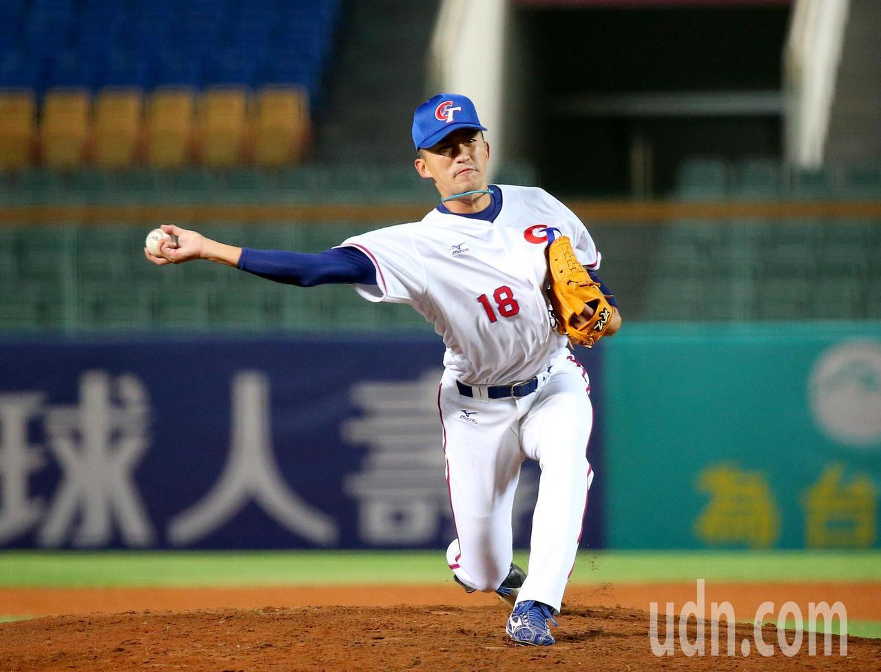 中華隊第二任投手吳昇峰。記者余承翰/攝影