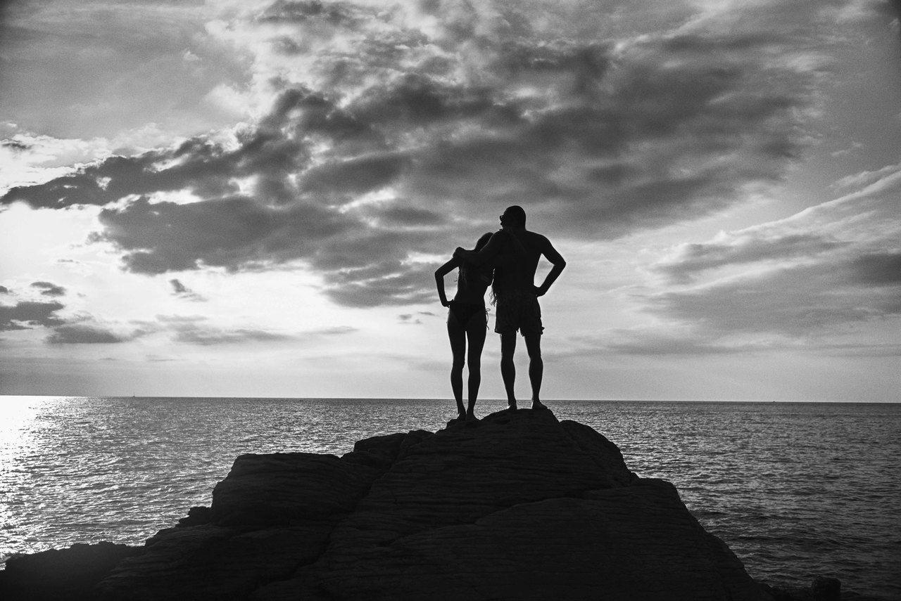 以黑白照來呈現對於海洋的熱愛與父女之前的情感。圖/海洋拉娜提供