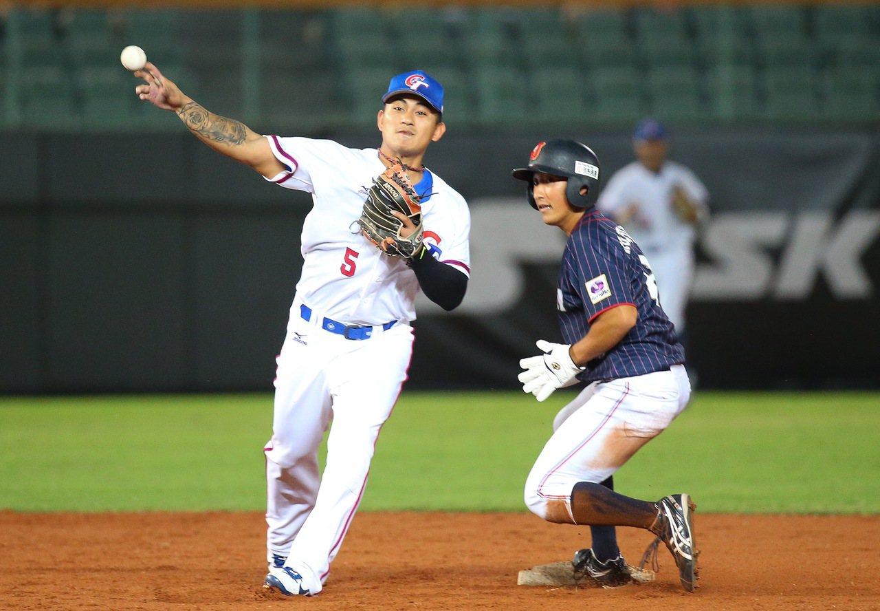 亞洲棒球錦標賽,中華隊二壘手林子偉。記者余承翰/攝影