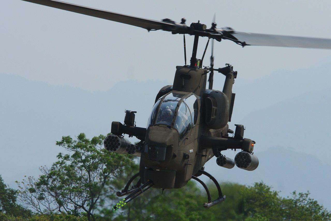 AH-1W攻擊直升機。記者程嘉文/攝影