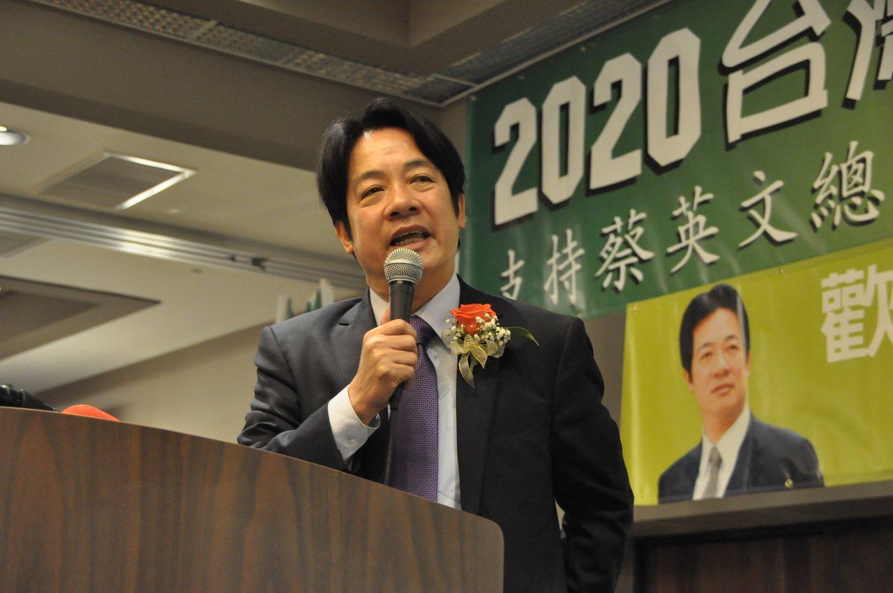 賴清德表示,初選已經結束,現在是台灣團結的時候,希望僑胞能共同捍衛本土政權,爭取...