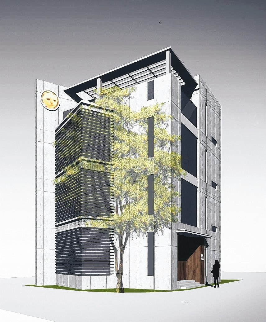 位於高雄美術館附近的新一代交大節能屋,標榜零耗能,預定明年落成,將樹立節能智慧建...