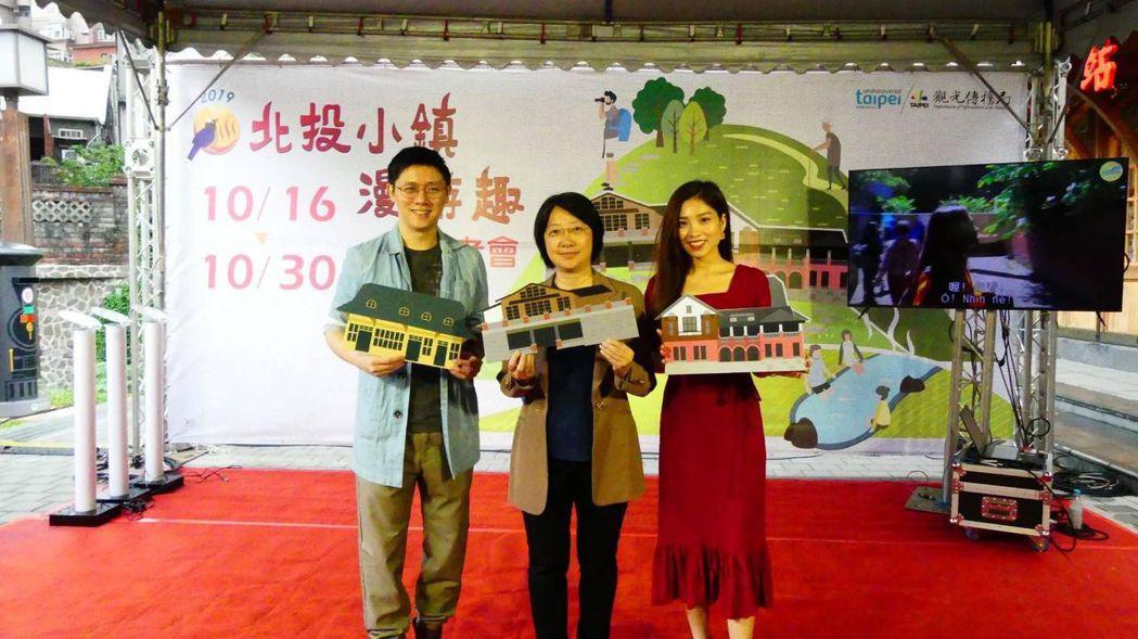 蕭君杰主秘(中)與「Hang TV-越南夯台灣」夫妻合影。  臺北市觀傳局 提供