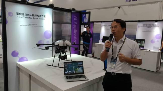 工研院電信操控無人機隊, 衍生出多種應用模式。 記者張義宮/攝影