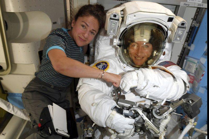 NASA首度全女性太空漫步任務改在本周執行。圖/美聯社