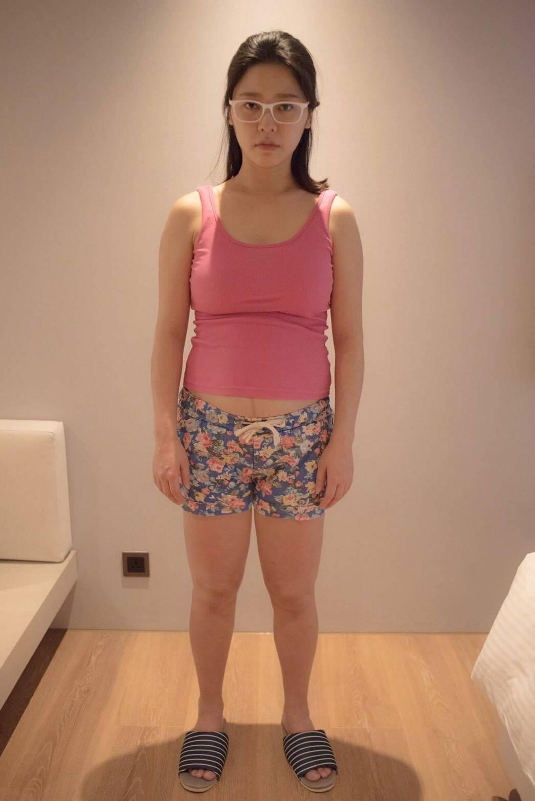 白家綺自曝產後肥胖的照片。 圖/擷自白家綺臉書
