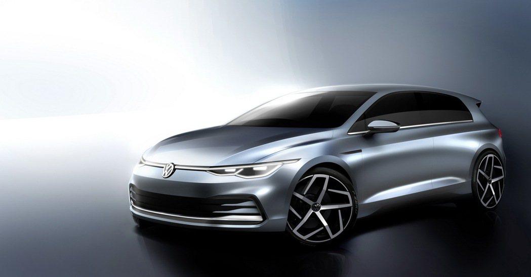 全新第八代Volkswagen Golf設計圖。 摘自Volkswagen