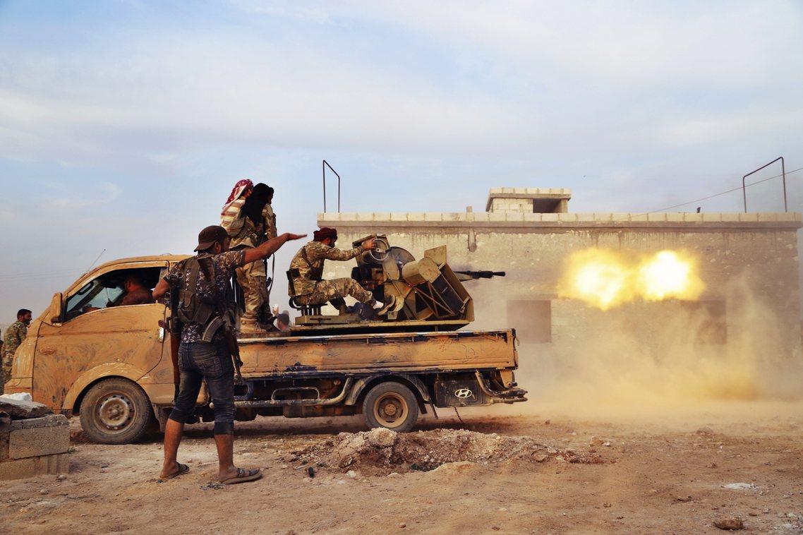 敘利亞反抗軍。 圖/美聯社