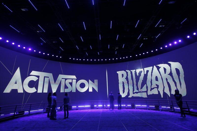 「暴雪」一度宣布沒收選手的競賽獎金,並禁賽一年,引發全球玩家抗議。 圖/美聯社