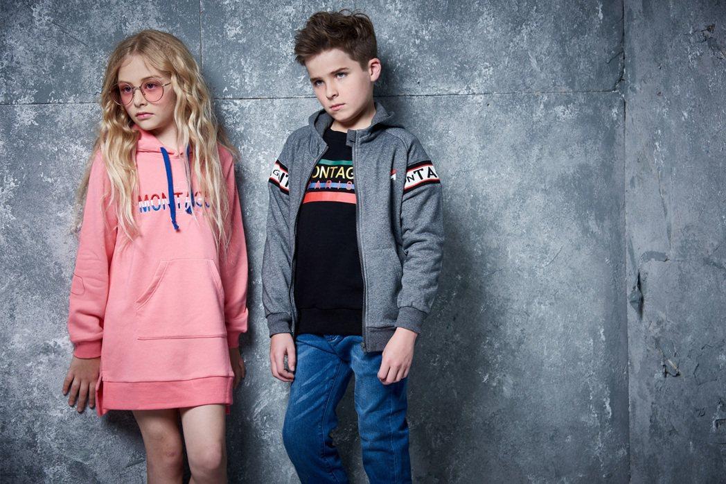 法國品牌MONTAGUT 2019秋冬童裝系列,延續上一季的街頭浪潮,將時尚和運...