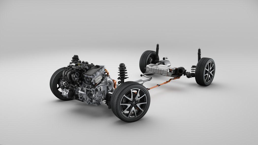這也是Yaris首次配備四輪驅動/E-Four系統。 圖/Toyota提供