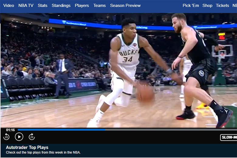 由「crossover」這個雙關語建立起NBA與Autotrader網站的關聯性...