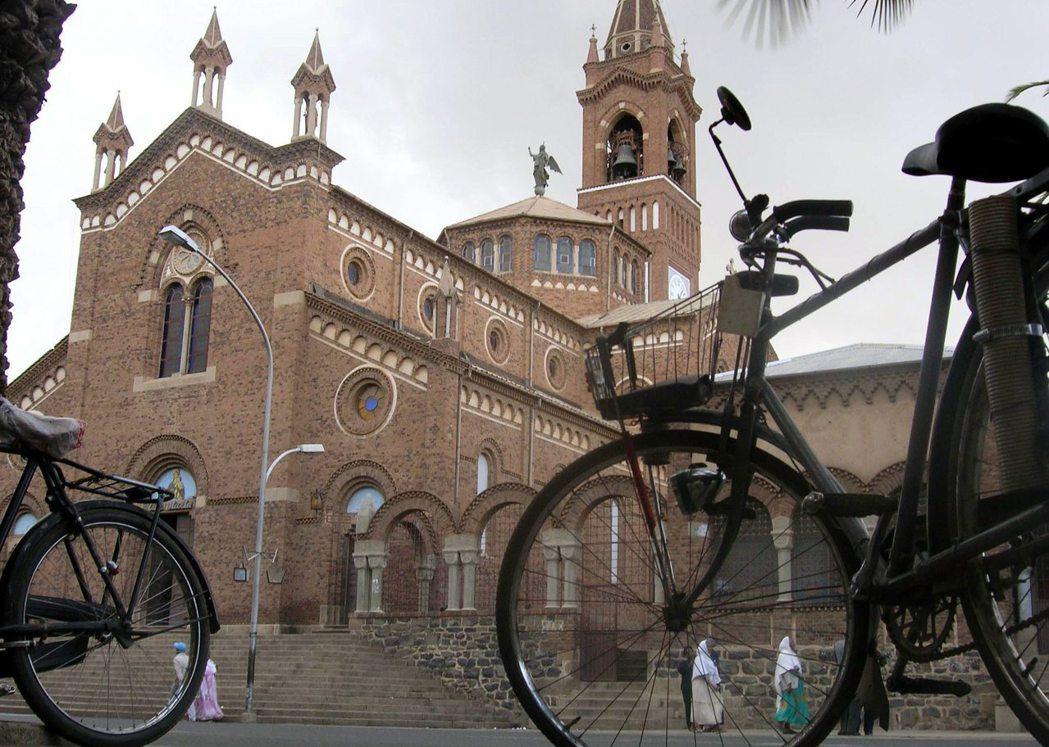 義大利殖民厄利垂亞時所興建的一座羅馬天主教堂。 (路透)