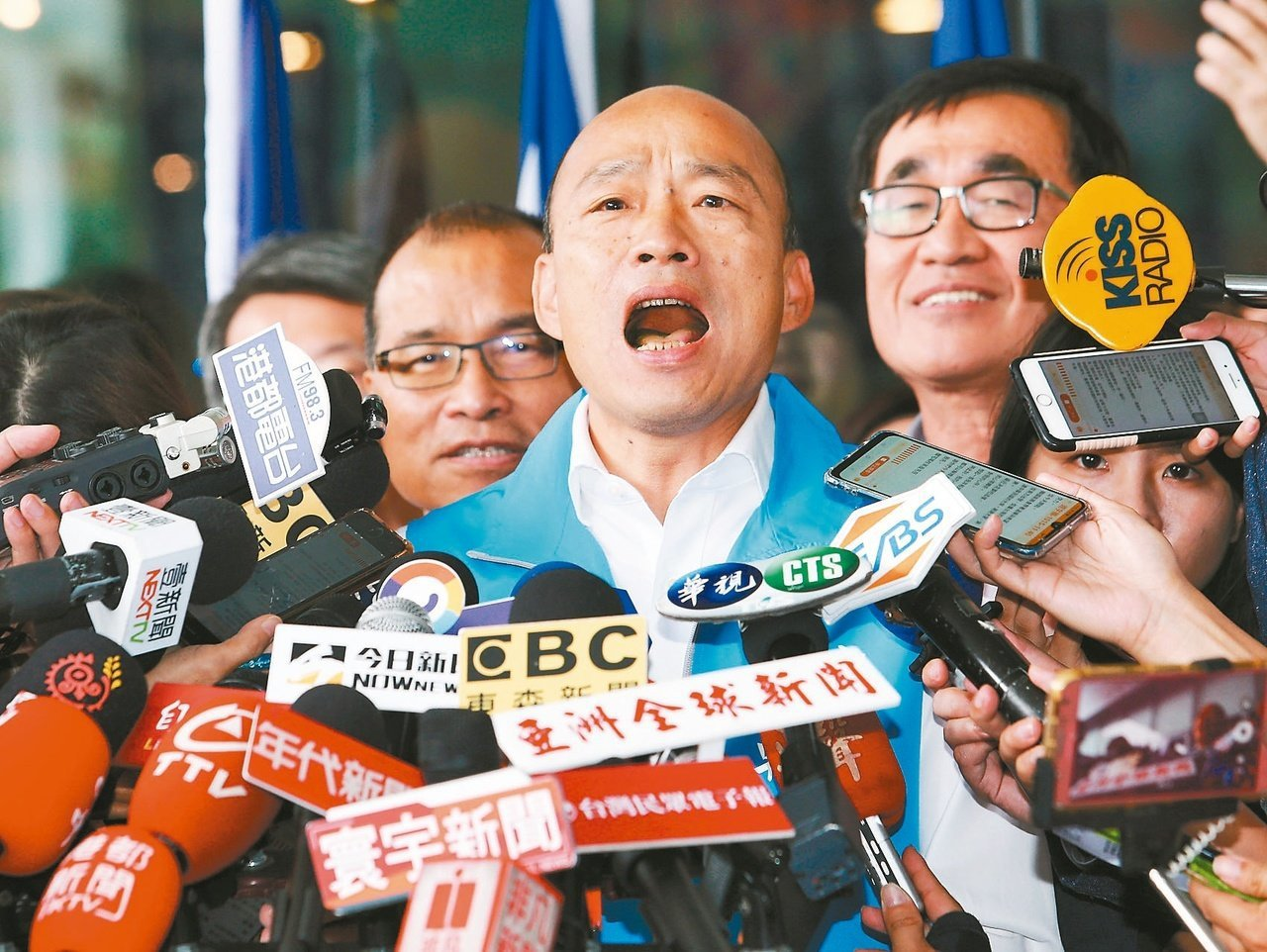 國民黨總統參選人韓國瑜。本報資料照片