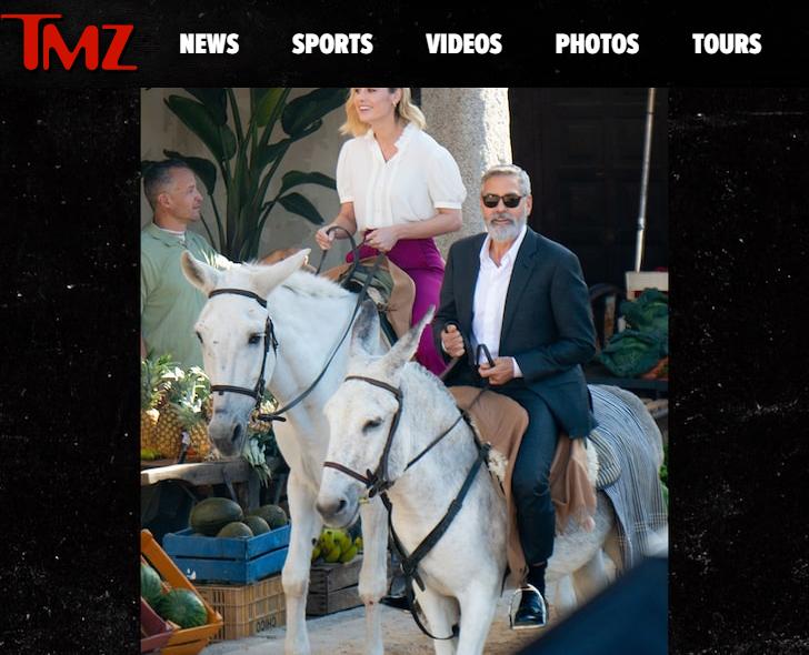 喬治柯隆尼與布麗拉森被拍到一起拍廣告。圖/翻攝自YouTube