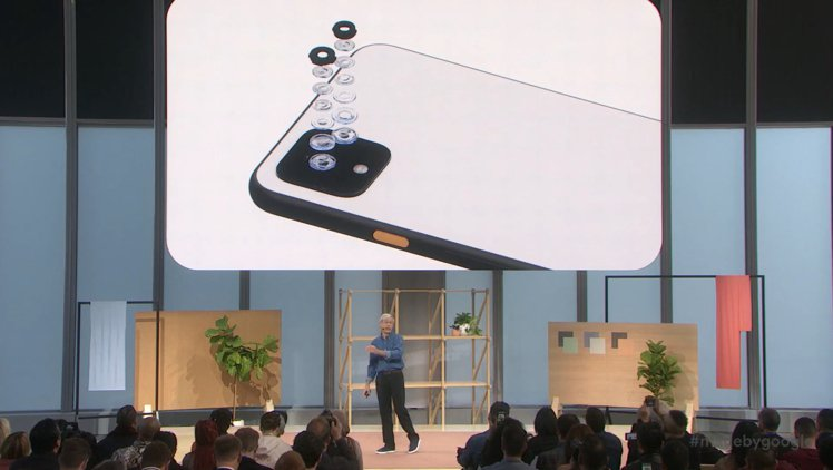 Pixel 4系列也是首款具雙主鏡頭系統的Pixel手機。圖/摘自發表會