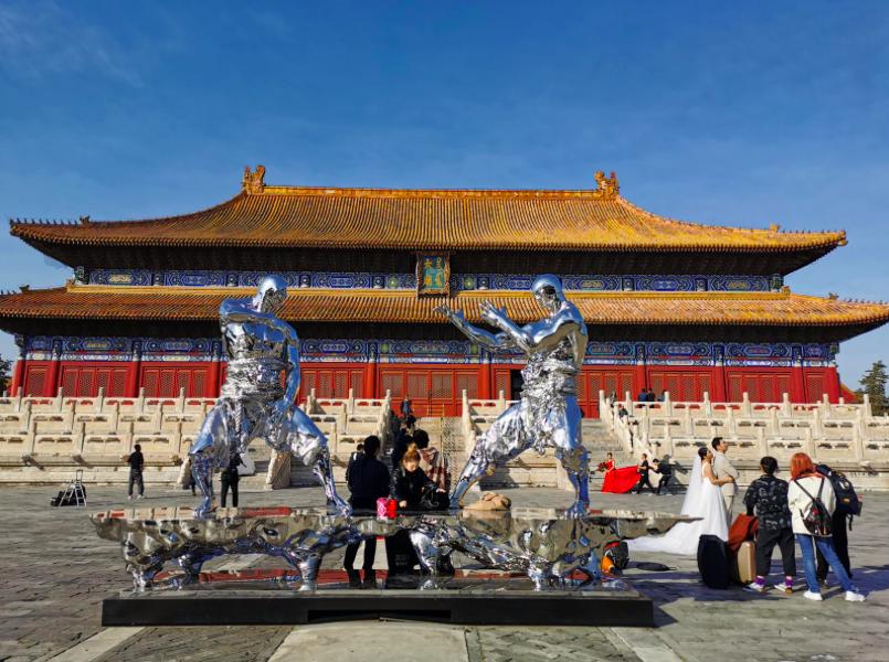北京太廟建成600年,展出36鋼鐵武士。(星島網)