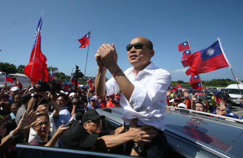 國民黨總統參選人今天進行屏東土地之旅。記者劉學聖/攝影