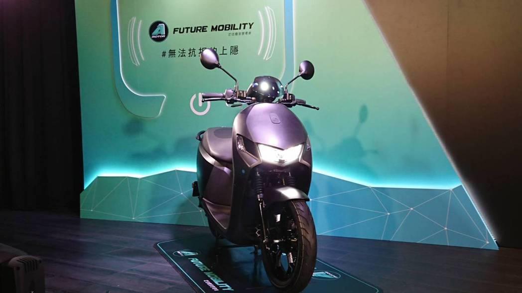 宏佳騰今日也同時發表智慧電車Ai-1 Sport全新黑隱特仕版。記者黃淑惠/攝影