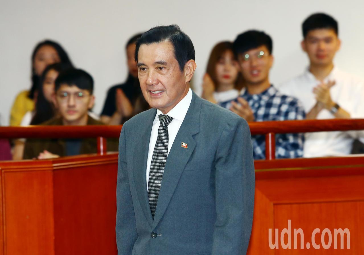 前總統馬英九上午前往東吳大學,以「關心慰安婦的時代意義」為題發表演說。記者杜建重...