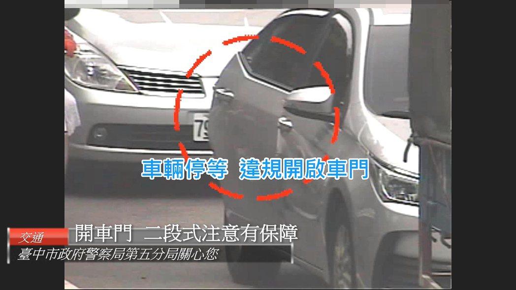 台中市警局第五分局整理出7則車禍事故影片,藉由現場震撼教育的畫面,宣導用路人應守...