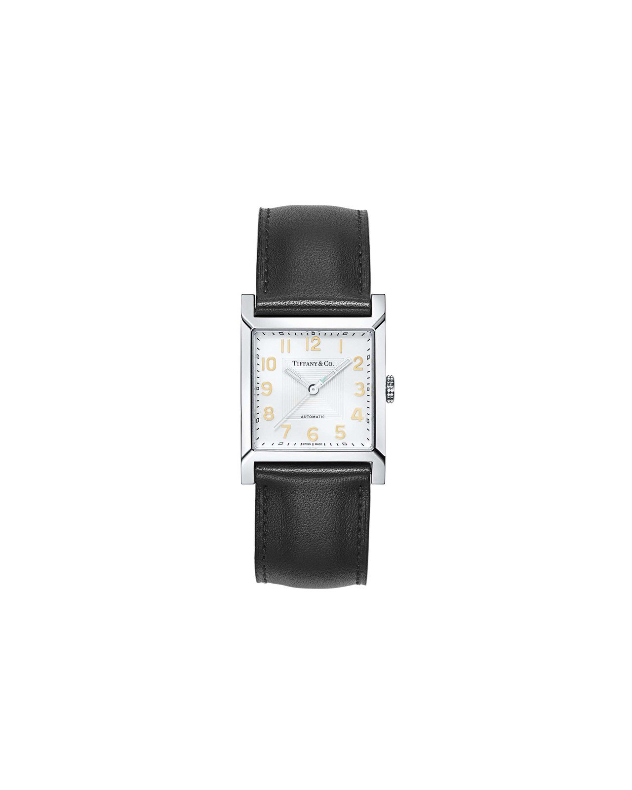 Tiffany 1837 Makers系列方形皮革表帶腕表,約99,000元。圖...