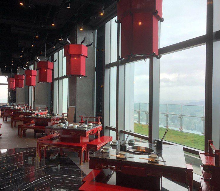 座落於45樓的絕佳景緻。圖/乾杯提供