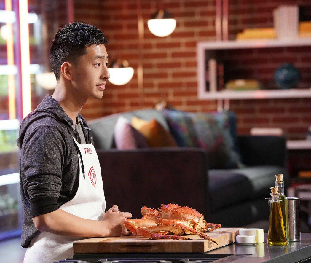 張程晅在「廚神當道美國版10」以海鮮為食材。圖/Star World提供